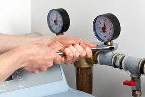 water softener with its time counter