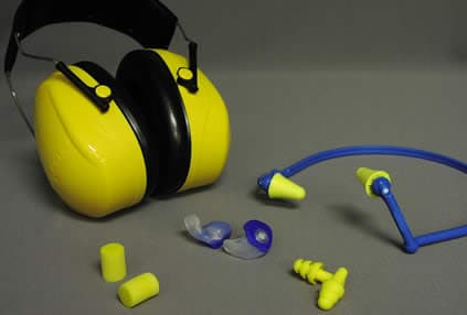 ear muffs and ear plugs