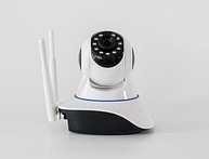 Wireless cctv cameras over white background