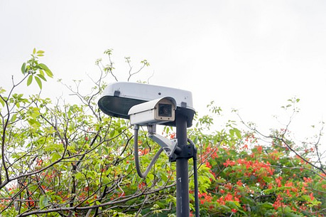 closed circuit camera, CCTV recording important events in the ga