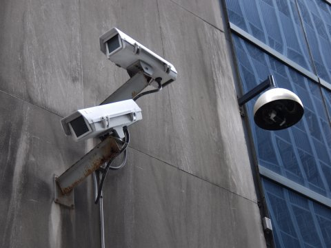 Surveillance on wall